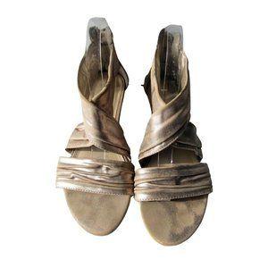 Sam & Libby Urock Distressed Rosegold Sandals 8.5